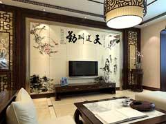 中式背景墙墙纸
