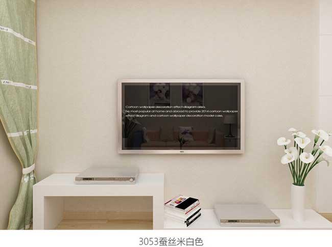 米白色现代简约工程墙纸